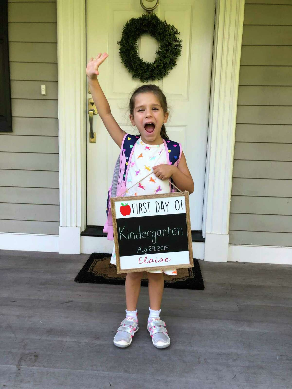 One Barlow Mountain Elementary School kindergartner is excited for the first day.