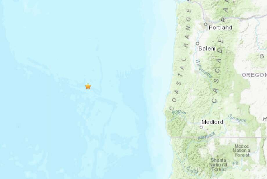 A magnitude 6.3 earthquake struck off the Oregon coast Thursday morning. Photo: USGS