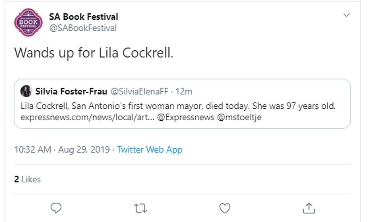 San Antonio reacts to the death ofLila Cockrell,the city's first woman mayor and the first of her gender to lead one of America's 10 largest cities.