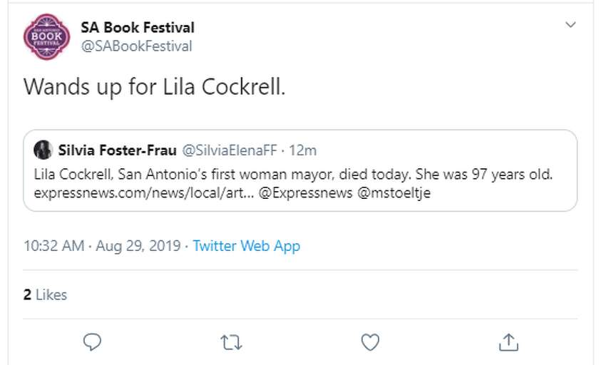 San Antonio reacts to the death of Lila Cockrell, the city's first woman mayor and the first of her gender to lead one of America's 10 largest cities.