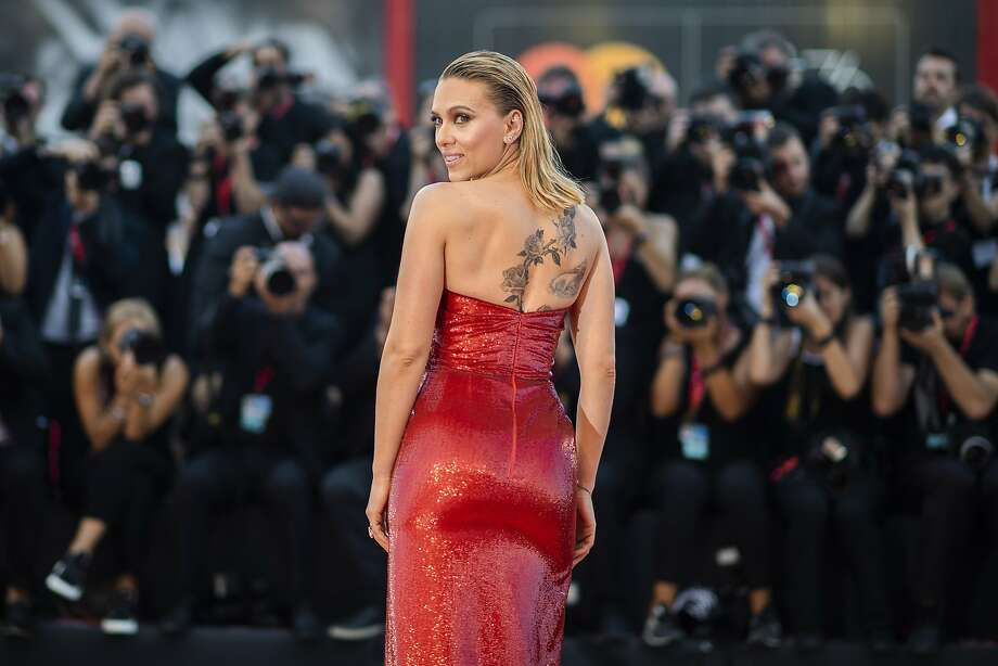 Actor Scarlett Johansson poses for photographers upon arrival at the premiere of the film 'Marriage Story' at the 76th edition of the Venice Film Festival, Venice, Italy, Thursday, Aug. 29, 2019. (Photo by Arthur Mola/Invision/AP) Photo: Arthur Mola, Associated Press