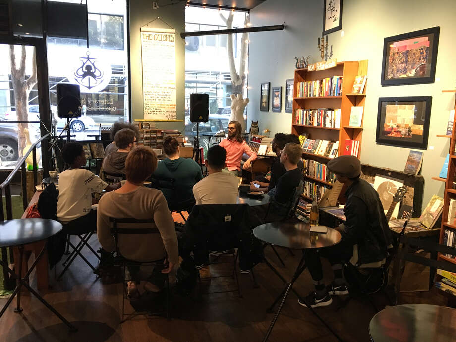 Octopus Literary Salon, a cafe/live performance venue/bookstore in Uptown Oakland, is closing its doors on August 31. Photo: Photo By Rebecca Grove