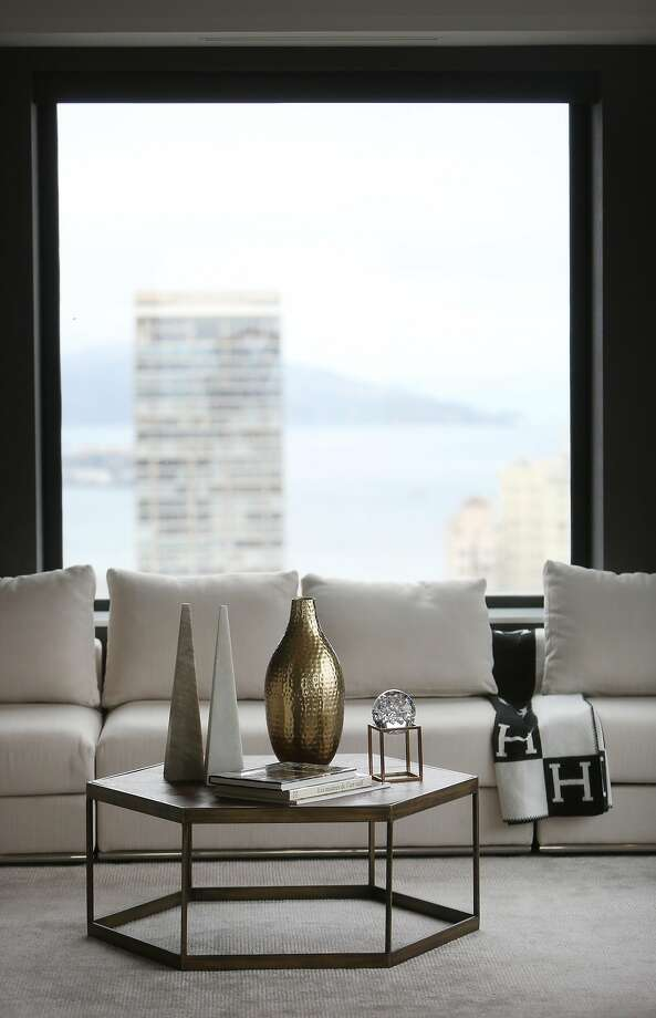 The Clay-Jones penthouse looks out on Alcatraz and Angel Island. Photo: Lea Suzuki / The Chronicle