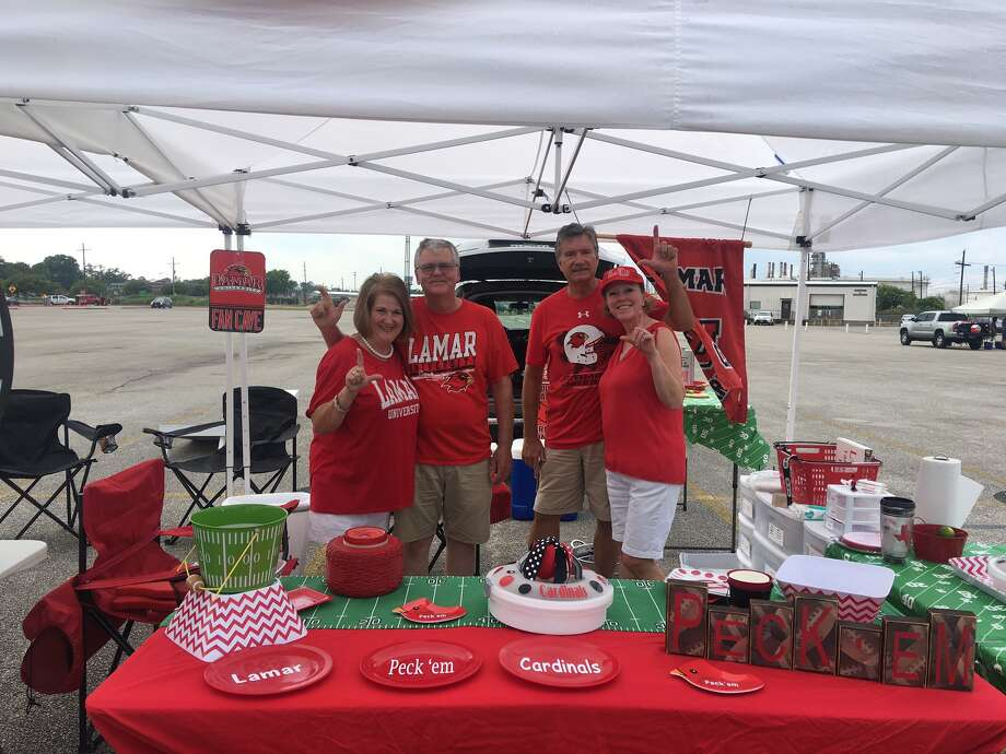 Scenes from the Lamar University tailgate as fans prepare for the first football game of the season.