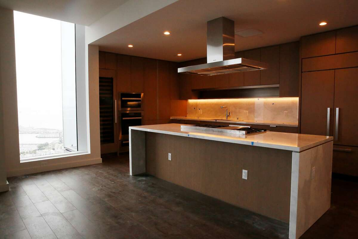 A kitchen is seen in an unoccupied penthouse at the Avery on Monday, August 19, 2019 in San Francisco, CA.