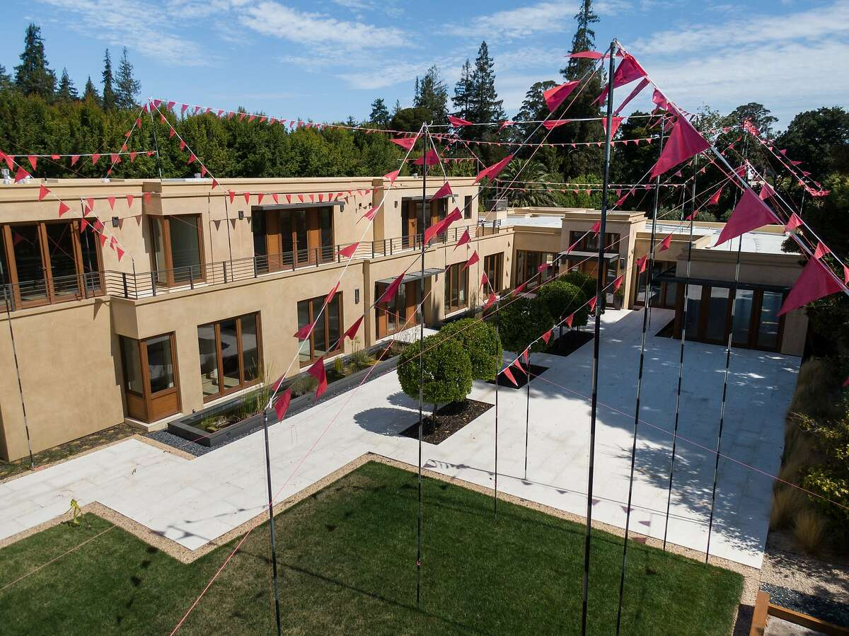 Story poles stand at a $15 million six-year-old Hillsborough on Wednesday, Aug. 28, 2019, in Hillsborough, CA.