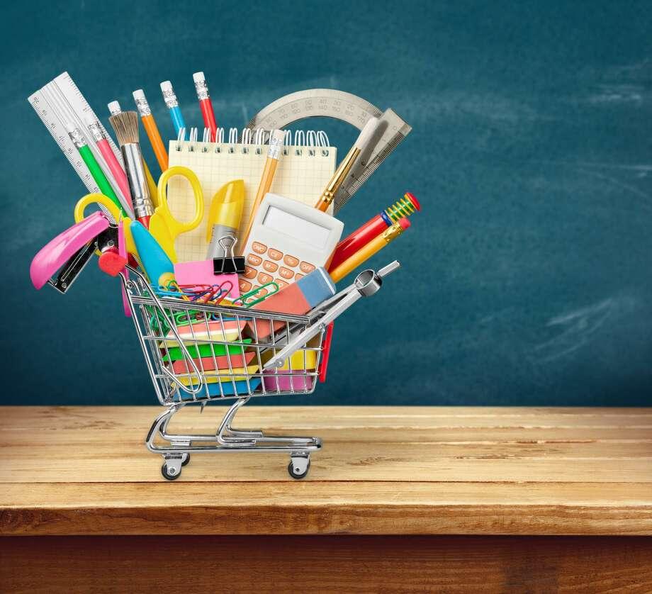Back-to-school supplies. Photo: Hearst File Photo / / BillionPhotos.com - Fotolia