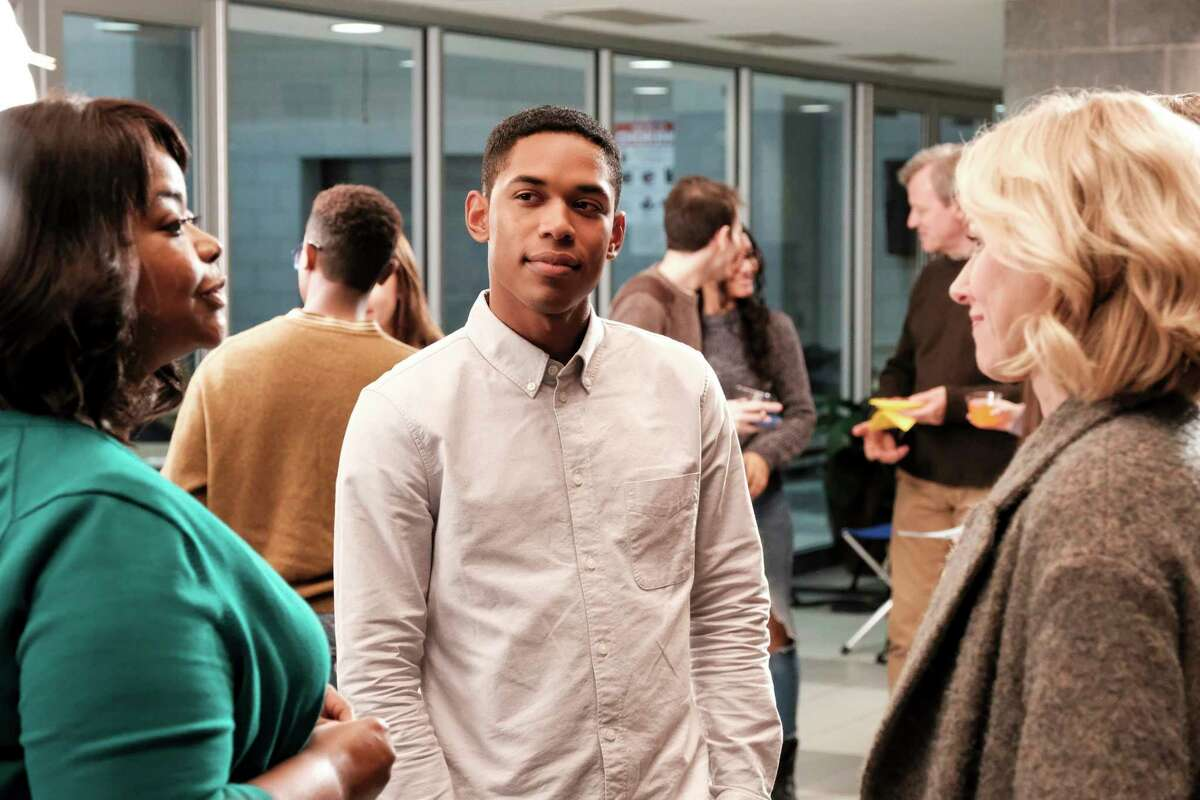 """This image released by Neon shows, from left, Octavia Spencer, Kelvin Harrison Jr. and Naomi Watts in a scene from """"Luce."""" (Jon Pack/Neon via AP)"""