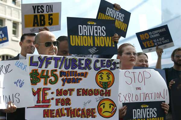 Uber driver sues over employment status, citing California's AB5 bill