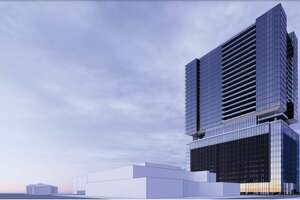 A rendering of a multifamily tower proposed in the Museum District.