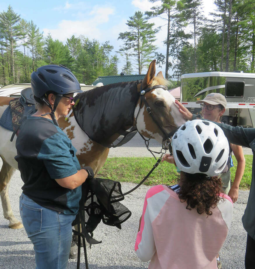 It wouldn't be Frontier Town without horses. (Herb Terns / Times Union) Photo: Herb Terns / Times Union