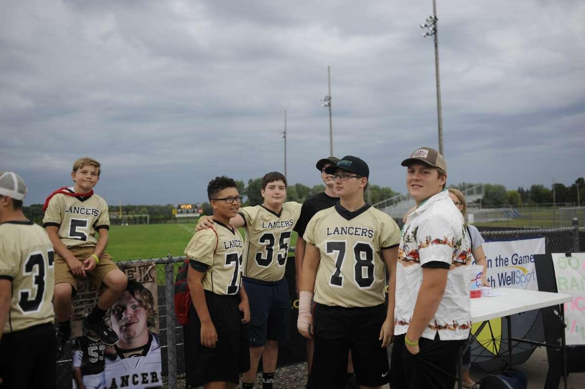 Scenes from Thursday's Bullock Creek vs. Meridian football pregame festivities and weather delay.