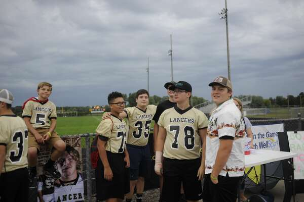 Scenes from Thursday's Bullock Creek vs. Meridian football pregame festivities and weather delay.