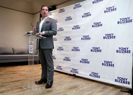 Houston mayoral candidate Tony Buzbee shown during a news conference at his campaign headquarters Friday, Aug. 23, 2019.
