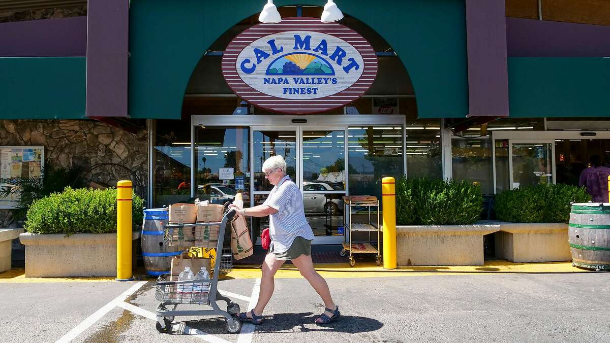 Customers shop at Cal Mart, Thursday Aug. 29, 2019, in downtown Calistoga, Ca.