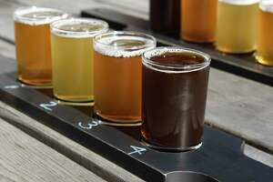 "A flight with four different varieties of beer is served at North Haven Brewing Co. on the island of North Haven, Maine on Tuesday, Aug. 27, 2019. Connecticut Governor Ned Lamont's great-grandfather Thomas W. Lamont, a J.P. Morgan financier, bought 100 acres on the island in 1917 and built the family estate ""Sky Farm"" shortly thereafter. The island of North Haven is accessible by a thrice-a-day ferry from nearby Rockland and is largely seasonal with just about 350 year-round residents and more than 1,500 in the summer."