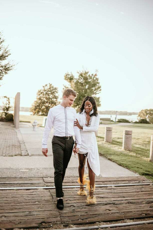 Lukas K. Alfen and Chanelle T. Boatswain during their engagement photoshoot on August 4, 2019. Photographed by Karin Wildermuth of Memphis, Tenn. Photo: Contributed Photo / Karin Wildermuth