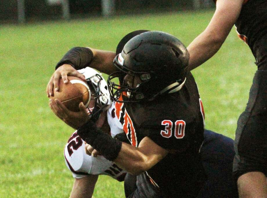 The Ubly Bearcats won their home opener 28-6 over USA on Thursday night. Photo: Mark Birdsall/Huron Daily Tribune