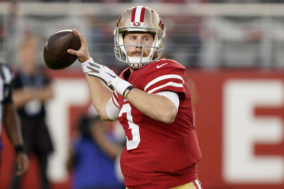 Clayton Beathard, the younger brother of 49ers backup quarterback C.J. Beathard (pictured), was one of two men fatally stabbed outside a Nashville bar early Saturday morning.
