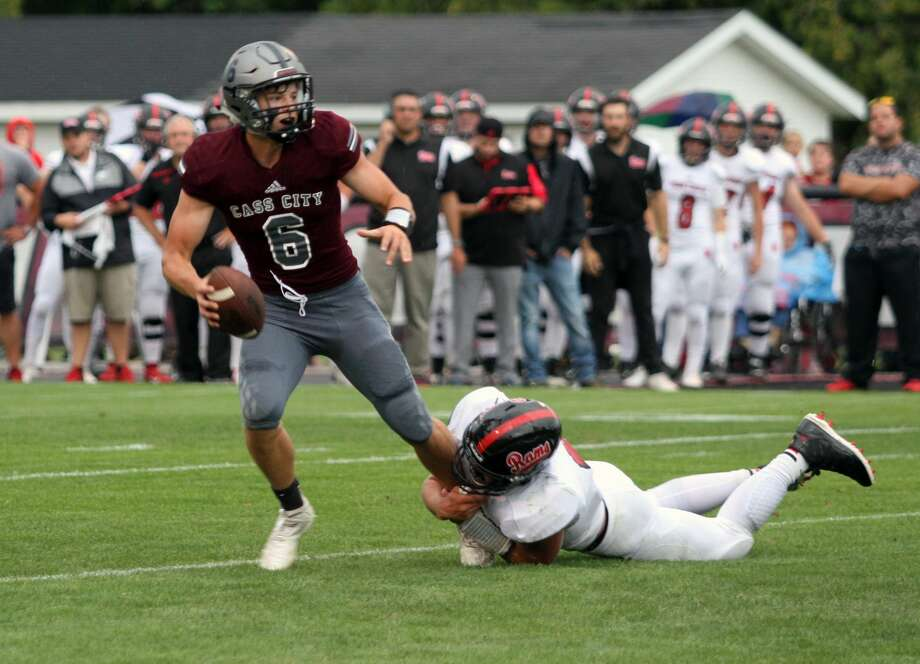 The Cass City Red Hawks lost a 16-14 heartbreaker to Montrose-Hill McCloy Thursday night to open the 2019 season at home. Photo: Eric Rutter/Huron Daily Tribune