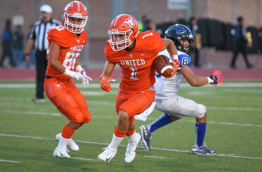 United junior Tanner Sanchez has a team-high 253 receiving yards through the first two games this season. Photo: Danny Zaragoza /Laredo Morning Times