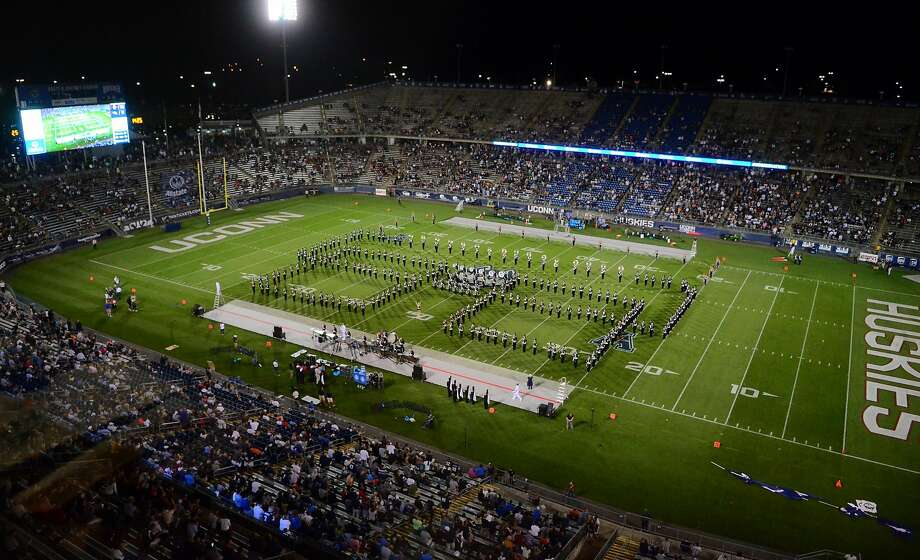 Opening day football action between UConn and Wagner at Rentschler Field  in East Hartford, Conn., on Thursday August 29, 2019. Photo: Christian Abraham, Hearst Connecticut Media