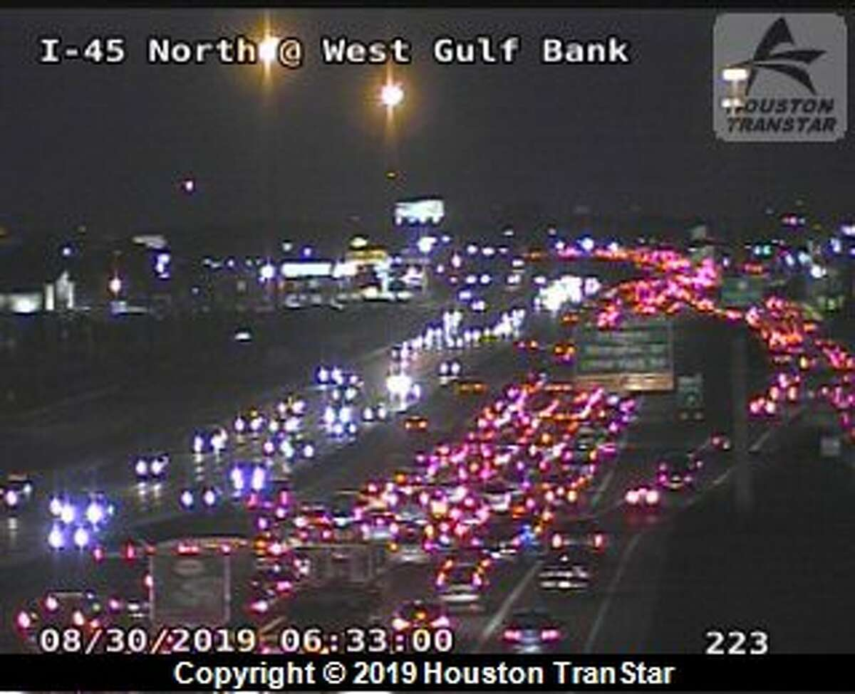 Houston police are responding to a car fire on Interstate 45 and Parker Road Friday morning.