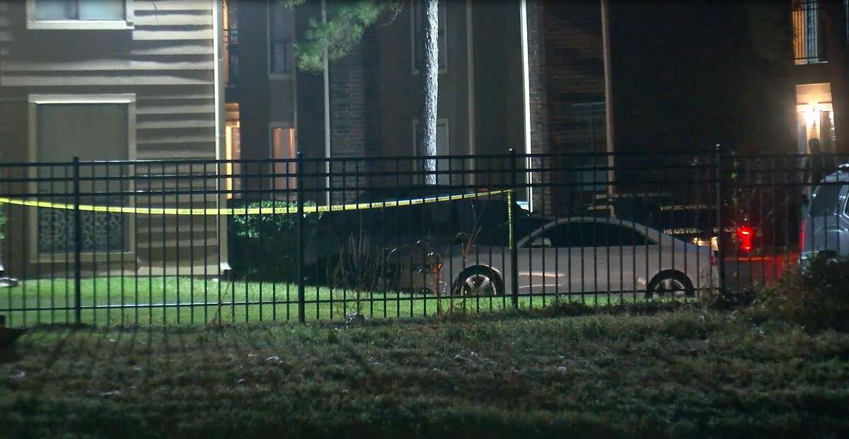 The body of a man was found in the middle of a parking lot of a Greenspoint area apartment complex early Friday, according to police.