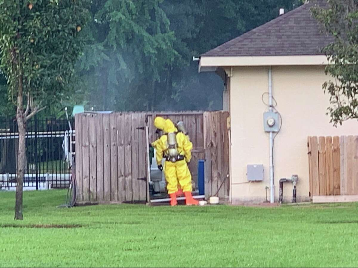 Emergency authorities are asking residents in Atascocita to shelter-in-place after a possible chlorine leak at a community pool in the4800 block of Drew Forest Lane on Friday, Aug. 30, 2019.