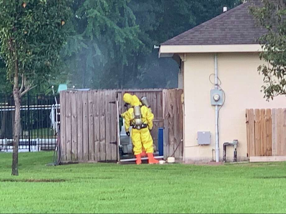 Emergency authorities are asking residents in Atascocita to shelter-in-place after a possible chlorine leak at a community pool in the 4800 block of Drew Forest Lane on Friday, Aug. 30, 2019. Photo: Atascocita Fire Department