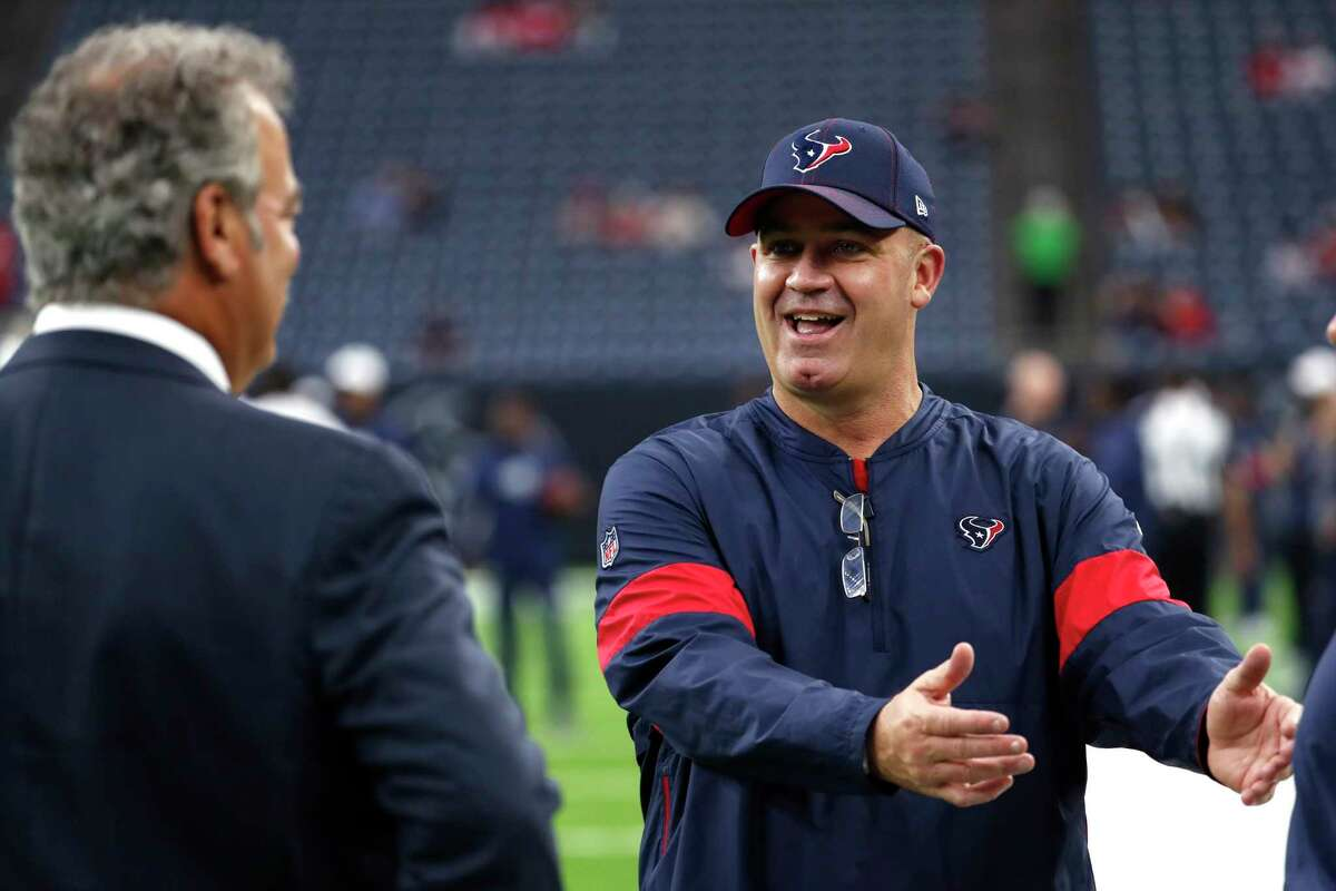 Texans head coach Bill O'Brien, with Cal McNair before last week's preseason game vs. the Rams, is confident in how orgranization is doing business.
