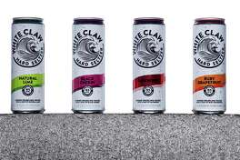 White Claw's Natural Lime, from left, Black Cherry, Raspberry and Ruby Grapefruit