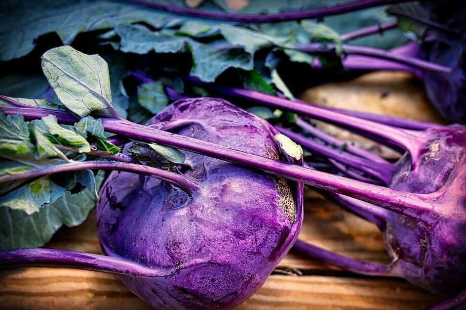 Kohlrabi is a member of the cabbage family grown for its swollen, turnip-shaped portion of the stem which rests on the ground. Photo: Courtesy Photo