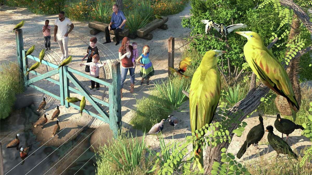 An artist's rendering of an aviary that will be among the South American Pantanal exhibits.
