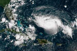 ATLANTIC OCEAN - AUGUST 30:  In this NOAA GOES-East satellite image, Hurricane Dorian, now a Cat. 2 storm with maximum sustained winds of 110 mph, gains strength as it tracks towards the Florida coast taken at 13:40Z August 30, 2019 in the Atlantic Ocean. According to the National Hurricane Center Dorian is predicted to hit Florida as a Category 4 storm over the Labor Day weekend. (Photo by NOAA via Getty Images)