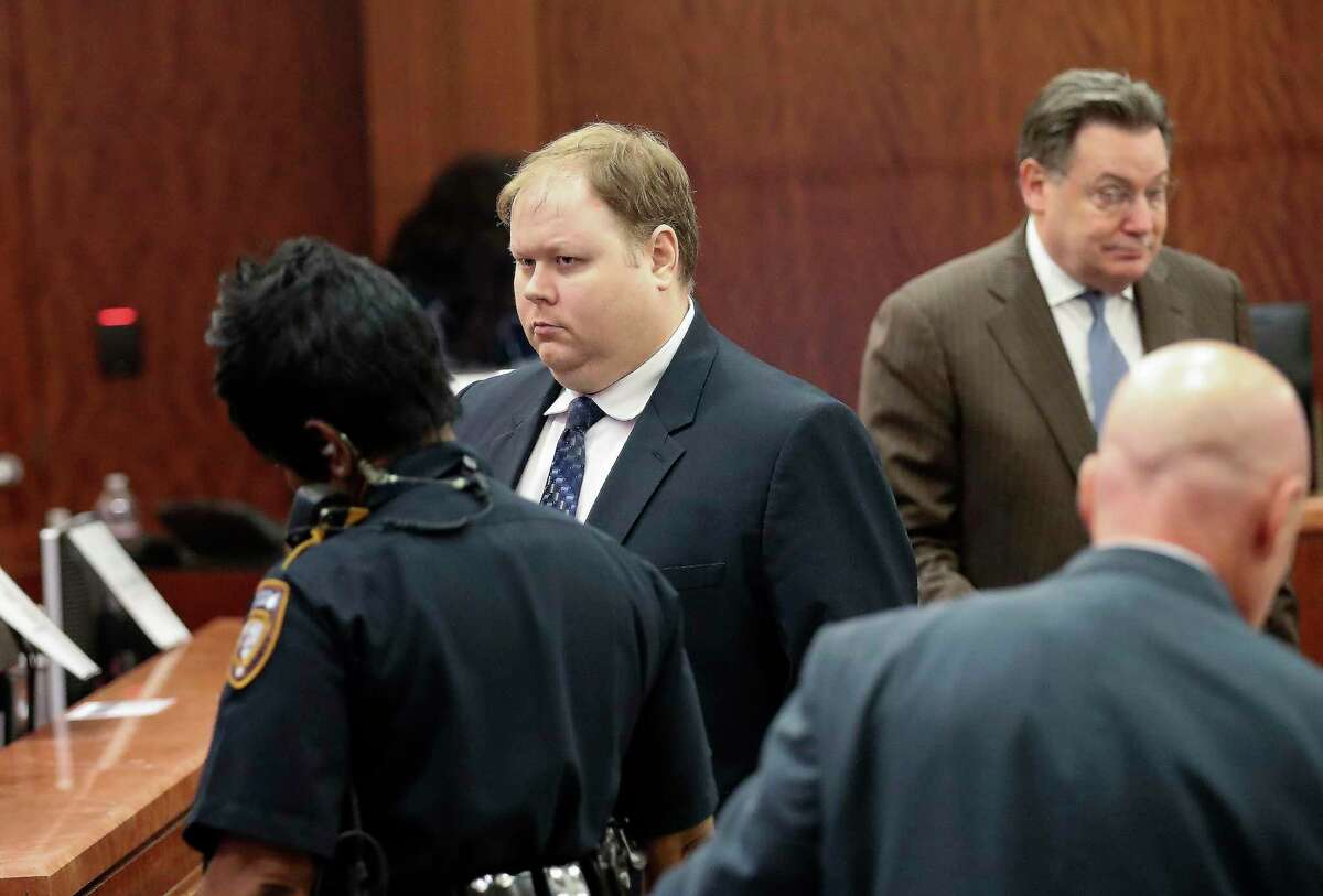 Ronald Haskell, center, appeared in Judge George Powell's courtroom last week for his capital murder trial in the 2014 massacre of a Spring family.Haskell is charged with one count of capital murder in the deaths of Stephen, 39; Katie, 34; and Bryan, 13; Emily, 9; Rebecca, 7; and Zach, 4 on July 9, 2014. Police said he posed as a deliveryman and forced his way into the home of the Stay family and fatally shot all six of them.