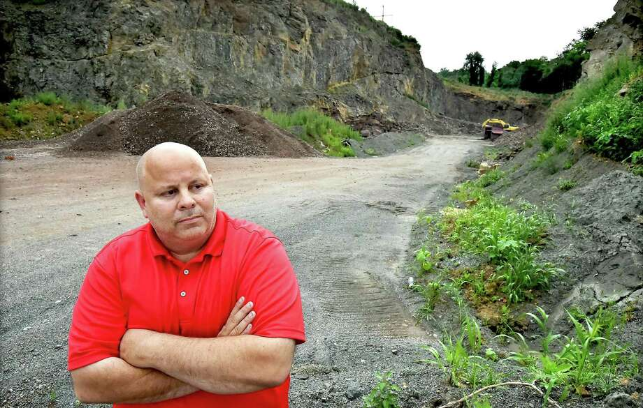 John Patton, managing member of Farm River Rock LLC, is photographed at the quarry in 2017 in East Haven. Photo: File Photo / Catherine Avalone/New Haven Register