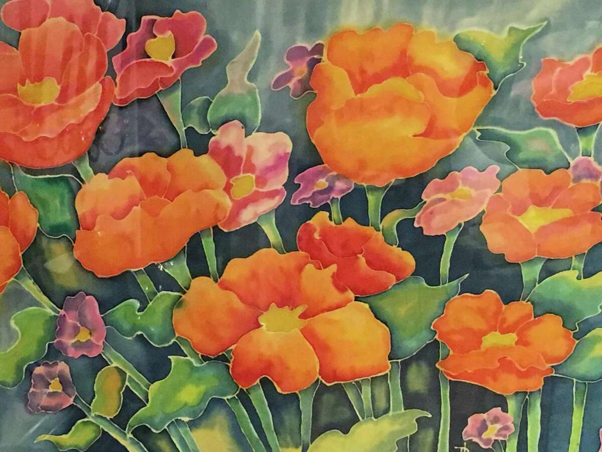 The Silk Painters International NY Metro Chapter Art Exhibition runs Sept. 6 through Oct. 3 at the Wilton Library, 137 Old Ridgefield Road, Wilton. For more information, visit wiltonlibrary.org.