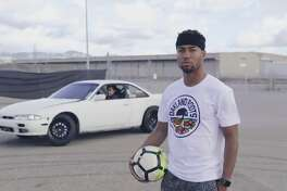 Oakland Roots first signing Devante Dubose appears in a hype video announcing his signing that featured a car doing doughnuts in the background.