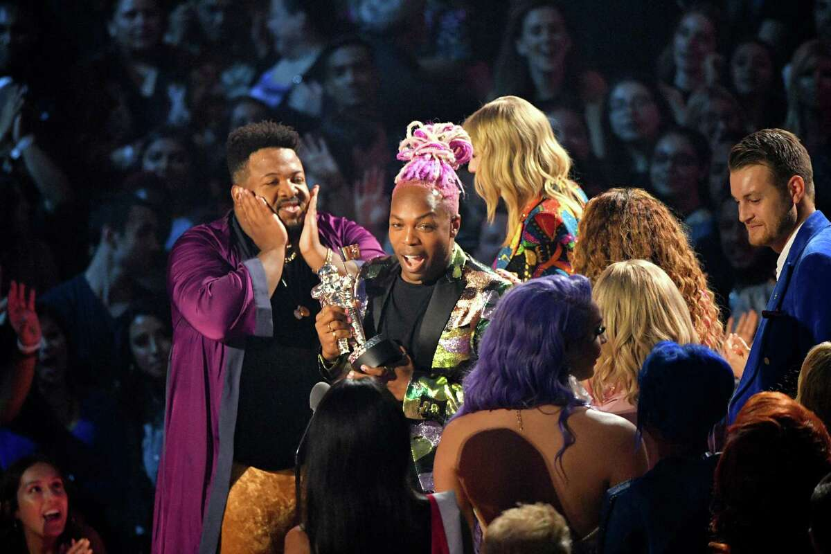 Todrick Hall speaks onstage during the 2019 MTV Video Music Awards at Prudential Center on August 26, 2019 in Newark, New Jersey.