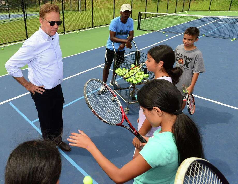 "Connecticut Governor Ned Lamont embarks on his ""Day in the Life"" tour of Roodner Court Housing Complex, the Grassroots Tennis facility and other areas of the city Wednesday, August 7, 2019, in Norwalk, Conn. Photo: Erik Trautmann / Hearst Connecticut Media / Norwalk Hour"