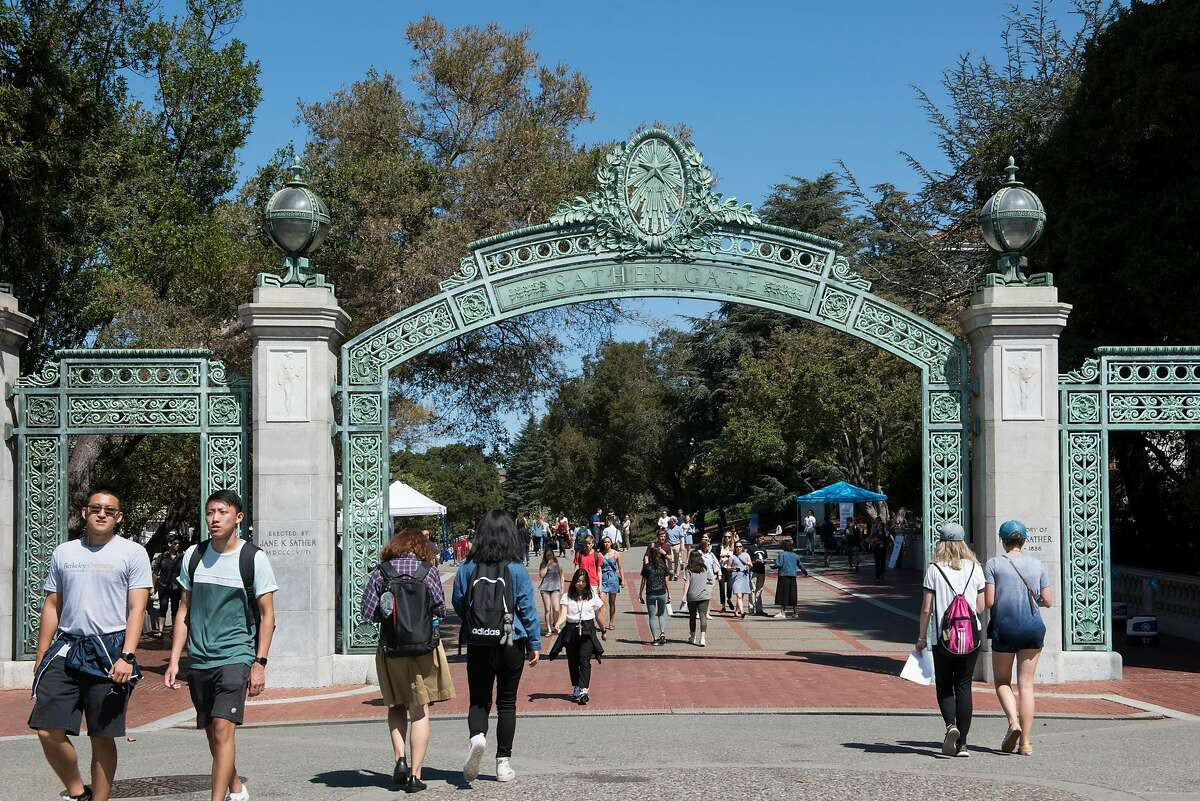 Students on the campus of UC Berkeley, Berkeley, Calif., on August 27, 2019.
