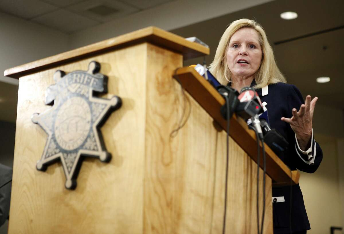 Santa Clara County Sheriff Laurie Smith speaks during a news conference regarding the arrest of Antolin Garcia-Torres in the Sierra LaMar case at the Santa Clara County Sheriff's Office on Tuesday May 22, 2012 in San Jose, Calif.