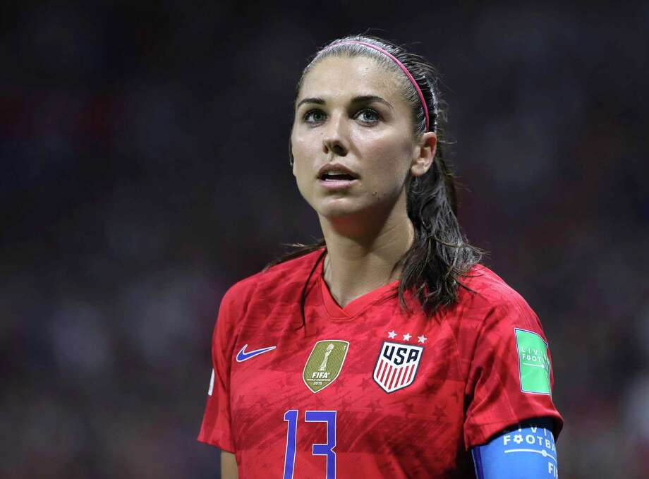 United States soccer star Alex Morgan will appear at Southern Connecticut State University on Sept. 21. Photo: Laurent Cipriani / Associated Press / Copyright 2019 The Associated Press. All rights reserved