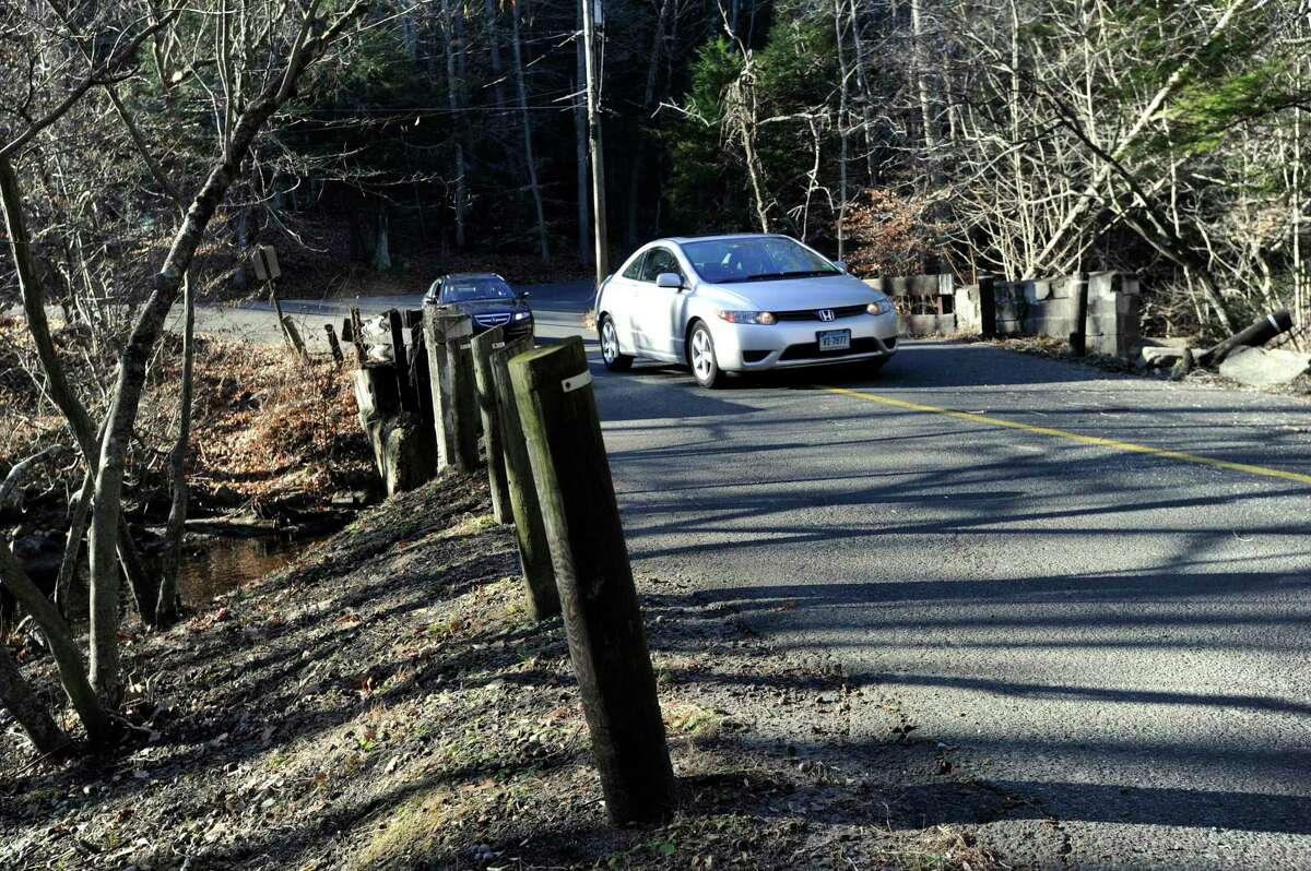 File photo of Stepney Road in Redding at the intersection of Poverty Hollow Road. Photo Monday, Dec. 7, 2015.