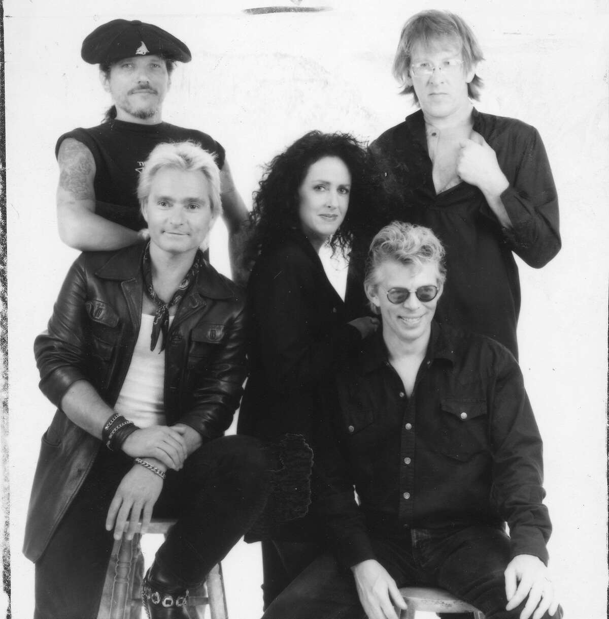 Members of Jefferson Airplane, a popular San Francisco band during the Summer of Love, would put together a reunion tour and album (Left to right) top row: Jorma Kaukonen and Paul Kantner lower row, Marty Balin, Grace Slick and Jack Casady Handout photo ran 09/17/1989, Sunday Datebook, p. 53