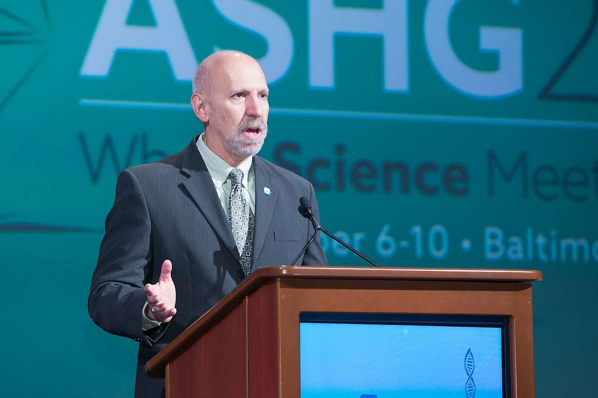 Neil Risch speaks before the American Society of Human Genetics in 2015.