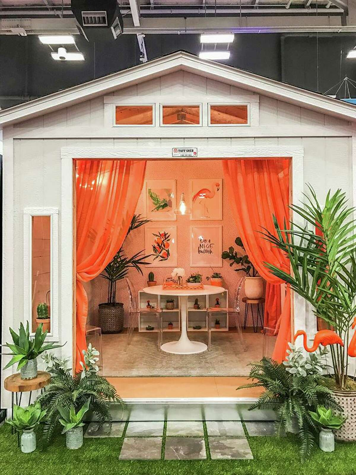 The 2019 Fall Katy Home & Garden Show will feature the auction of a She Shed to benefit The Ballard House. Here is an example of a She Shed.