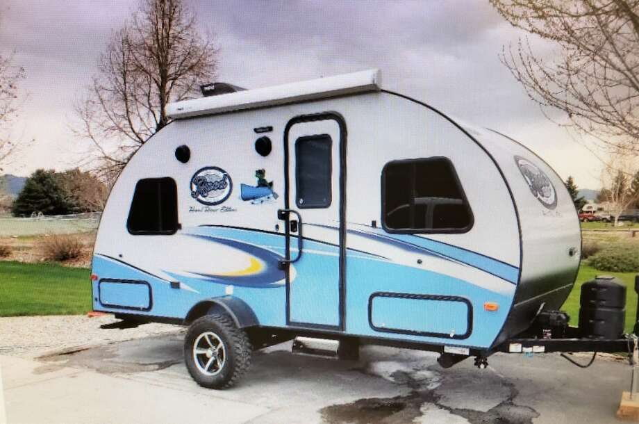 Someone went to the 1600 block of Idlewilde on Aug. 15 and stole the victim's gray, blue and white 2017 Forest River R-Pod travel trailer TX LP #B217103. Photo: Midland Crime Stoppers