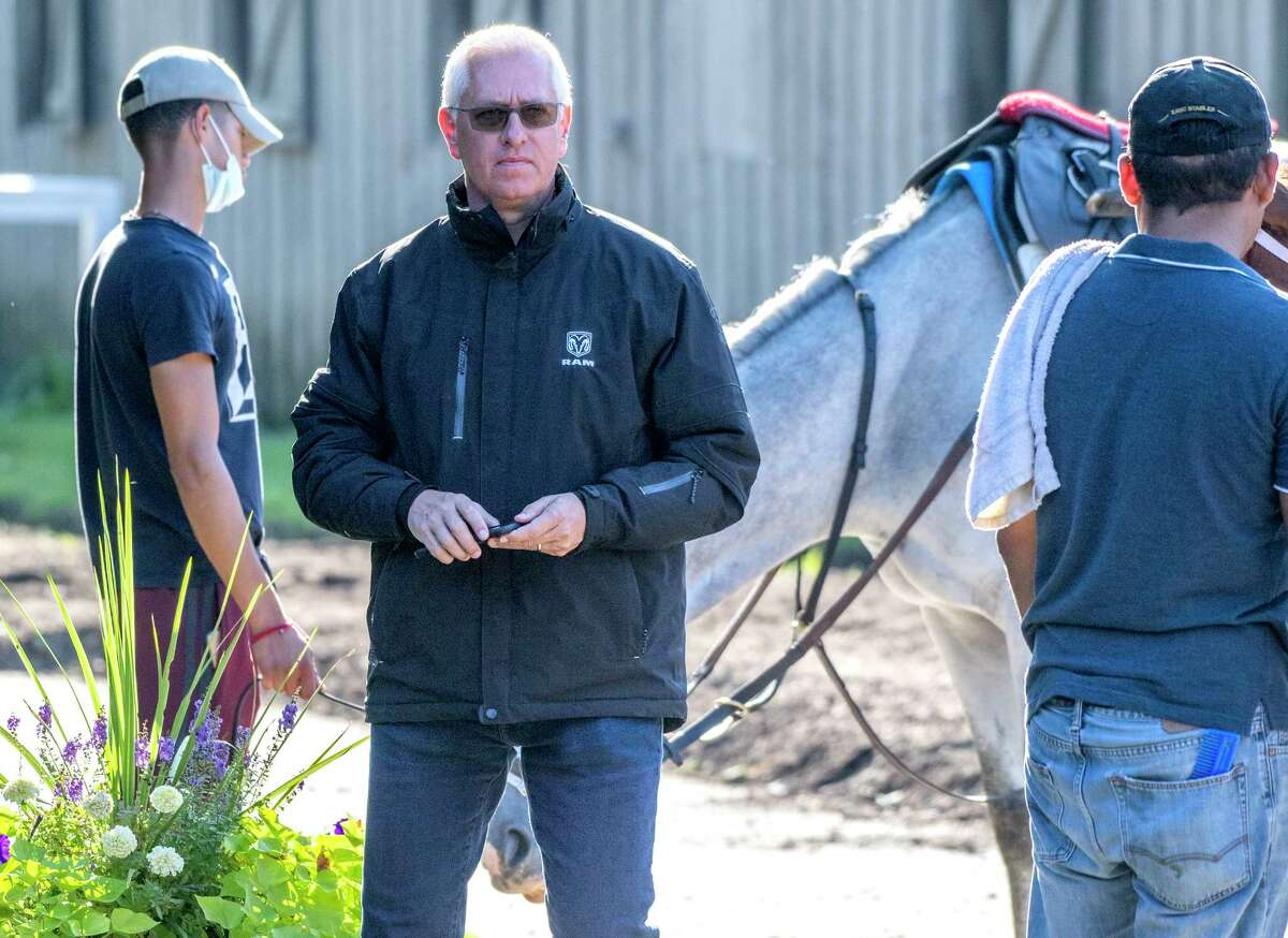 Trainer Todd Pletcher, shown last year at Saratoga Race Course, is the leading trainer at the Gulfstream meet. (Skip Dickstein / Special to the Times Union)